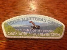 MINT CSP Boston Minuteman Council SA-69 100th Anniversary Camp Sayre