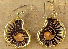 Genuine Vintage Ammonite Fossil Earrings