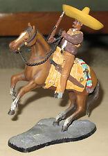 Grande figurine bandit Mexicain sur son cheval en métal