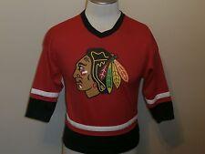 CHICAGO BLACKHAWKS RED WHITE & BLACK HOCKEY JERSEY REGULAR SEASON NHL BOYS L/12