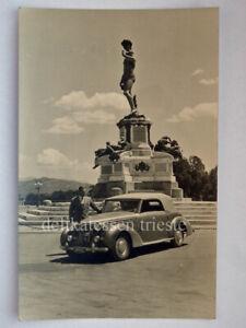 TRIESTE auto car TARGA TLT vecchia cartolina foto Firenze piazzale Michelangelo