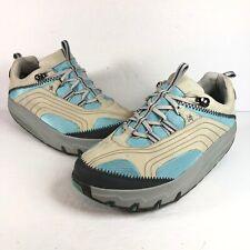 MBT Womens Chapa w Azul Turquoise Blue Beige Rocking Walking Toning Shoes Size 9