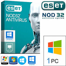 ESET NOD32 Antivirus 2017-  1PC / 2 Anni. Licenza Originale /  DURATA VERA