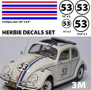 Herbie Love Bug Decals Stickers vinyl WV 53 Herbie Vehicle Graphics kit print