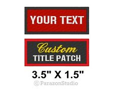 "Custom Embroidered Name Tag Patch Motorcycle Biker Badges 3.5"" x 1.5"" (B)"