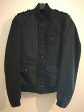 The Kooples military jacket with Badge Charcoal size XS UK 34 UE 44