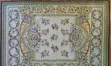 Amazing Aubusson - Vintage French Design - Floral Needlepoint Rug - 5 x 7 ft.