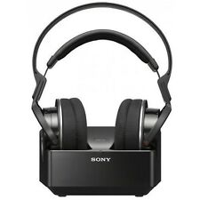 Sony Mdr-rf855rk Black Closed Wireless Home Headphones Earphones