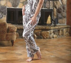 Naked North Snow Camo Lounge Pants, Casual Wear Pajamas White Camouflage