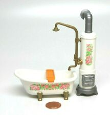 Playmobil Victorian Dollhouse Bathroom Clawfoot Tub Water Heater Faucet 5324