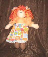 "Unique Rag Doll Colorful Carol Bonecas & Art 17"" Plush Soft Toy Stuffed Animal"