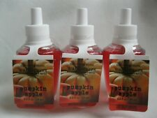 3 Bath and Body Works Pumpkin Apple Wallflowers Fragrance Refill Bulb New