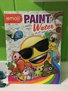 Emoji Paint with Water - 32 Pages | FREE POSTAGE