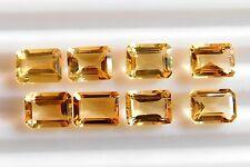 11.50 Cts 08 Pcs Natural Citrine Octagon Cut Lot Loose Gemstone 6 X 8 MM C-999