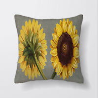 Sunflowers Flowers Yellow Cushion Covers Pillow Cases Home Decor or Inner