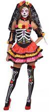 Womens Halloween Day of the Dead Senorita Fancy Dress Party Costume Adult XL