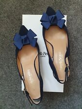 Russell & Bromley bowdacious Ante Azul Marino & Glitter zapatos talla 38 uk5