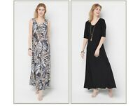 Attitudes by Renee Regular Set of 2 Printed & Solid Maxi Dresses Xs Animal Black