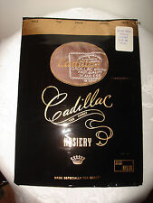 Vintage 1Pair 100% Nylon Micro Mesh French Coffee Size 10.5 Cadillac Stockings