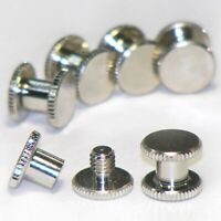 6x 5mm silver Chicago bookbinding interscrews posts and screws