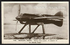 Vintage Postcard - 'The 'Mercury Racer' American Schneider Trophy Seaplane 1929