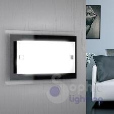 Applique lampada paarete design moderno vetro bianco nero cromo soggiorno bagno