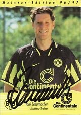 Autogramm AK Toni Schumacher Fußball , Karte Borussia Dortmund Meister 96/97 #