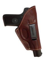 Waist belt gun holster TT Tokarev, genuine leather, velor inner   153-4
