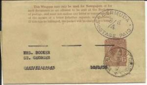 Bermuda provisional postal wrapper HG:E9J (large 4) St. Georges 23/JUN/51
