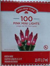 100 PINK Mini Lights Christmas Wedding