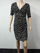 NEW - Ralph Lauren - Size 10P - Three-Quarter Sleeve Dress - Printed Black $134