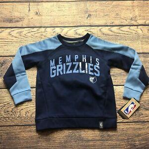 NBA Kids Boys Medium 5/6 Memphis Grizzlies Pullover Sweatshirt Tek Warm NEW