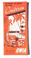 Vintage 1964 British West Indian Airways Where to Stay in Caribbean Travel Guide