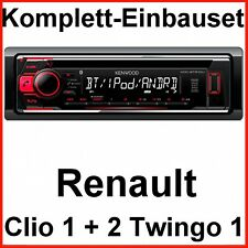 Kdc-bt510u autoradio bluetooth mp3 USB CD Kit de montage pour RENAULT CLIO TWINGO 1 2