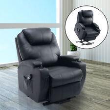 HOMCOM Elektrischer Fernsehsessel Aufstehsessel Relaxsessel Sessel Schwarz