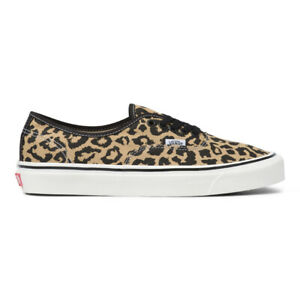 New Vans Authentic 44 DX Anaheim Factory Black/Tan Leopard Sneakers 2021