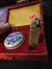 Old Stone/Marble Chinese Stamp Wax Seal With Wax In A Presentation Box