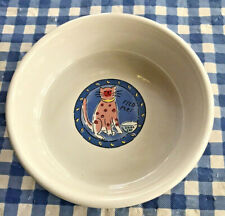 """Feed Me Cat Stoneware Kitty Bowl 5"""" x 1 1/2"""" by Rivera Van Beers for Signature"""