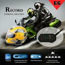 2X EJEAS E6 Bluetooth Intercomunicador Moto Casco Intercom 1200M Walkie Talkie