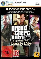 Pc GTA grand theft auto IV 4 COMPLETE EDITION + EPISODES FROM LIBERTY CITY * NOUVEAU * NEW