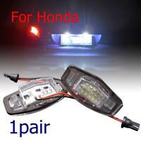 For Honda Civic Accord LED Car License Plate Backup Reverse Brake Light Lamp 2pc