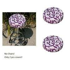 Fashion New Bar Stool Cover Anti-slip Round Chair Seat Protector 2 pcs Pack