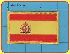 Spain Flag Iron on Patch España QUALITY Embroidery NEW  Biker Army 3x2 inches