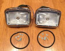 1956 CHEVY CHROME PARKING LAMP LIGHT ASSEMBLIES  Pair ** USA MADE **