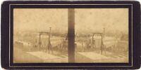 Panorama De Paris Commerce Da Vins Foto Stereo Vintage Albumina Ca 1860