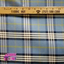 Home Decor Teal Plaid Heavy Upholstery Fabric by the Yard