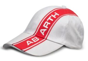 Abarth Baseball Hat Cap White Red Stripe New Genuine product number 6002350108