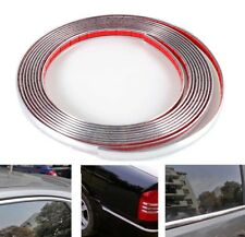 Car Silver Chrome Moulding Trim Bumper Protector Strip Adhesive12mm / 16ft