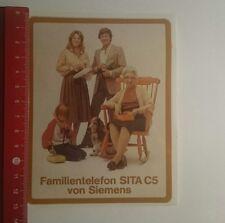 Aufkleber/Sticker: Familientelefon Sita C5 von Siemens (08011739)