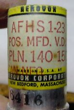 NOS AEROVOX AFHS 1-23  ELECTROLYTIC CAN CAPACITOR 140 uF 150V Mesas. 291uF